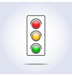 Traffic light icon one object vector