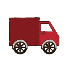 Truck vehicle icon vector