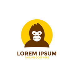 Unique monkey logo template vector