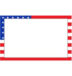 United states flag border vector