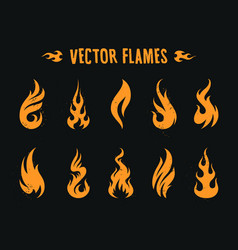 vecstor fire icons vector image