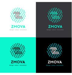z letter logo concept graphic alphabet symbol vector image