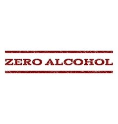 Zero Alcohol Watermark Stamp vector