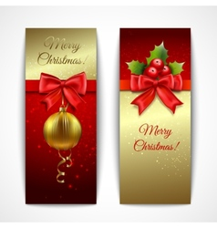 Christmas banners vertical vector image vector image