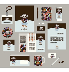 Corporate style business templates Set of modern vector image