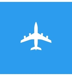 Plane silhouette shape isolated on blue vector image vector image