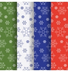 Set of winter holiday seamless patterns vector image vector image