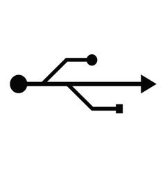 usb fllash icon vector image vector image