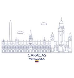 caracas city skyline vector image