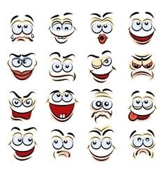 Cartoon emotions vector image