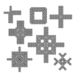 celtic knot elements one vector image vector image