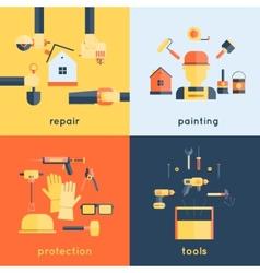 Home Repair Tools Flat vector image vector image