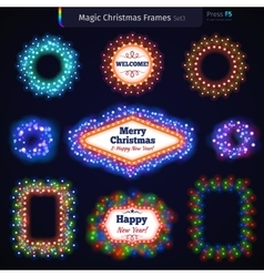 Magic Christmas Frames Set3 vector image vector image