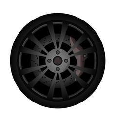 rally car rim icon vector image