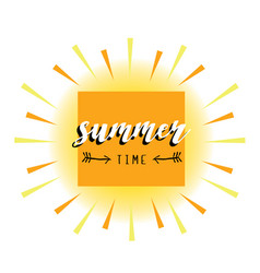 summer card abstract sun vector image vector image