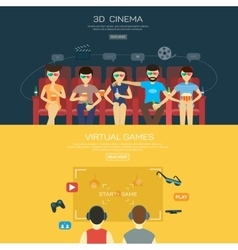Vecot for 3d cinema and games vector image