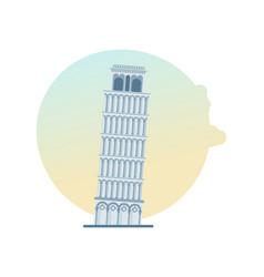 world landmark tower of pisa italy europe vector image