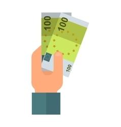 Donate money hand vector image
