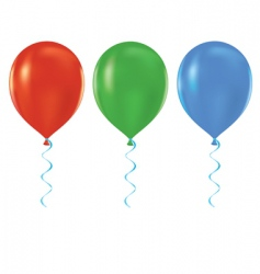 helium balloons vector image vector image