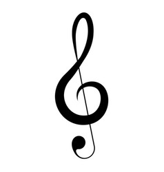 isolated musical note vector image vector image