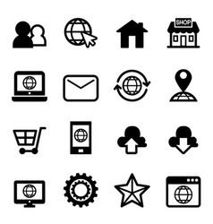 website internet icon vector image vector image