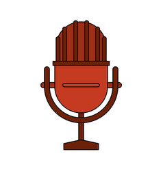 white background with studio microphone vector image vector image
