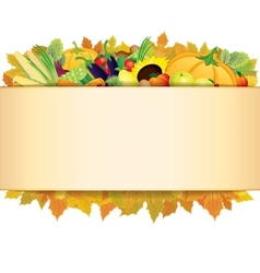 Autumn Thanksgiving Background EPS 10 vector image