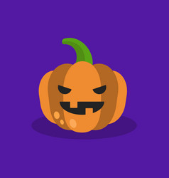 halloween trick or treat jack olantern scary vector image