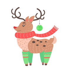 little cute deer icon vector image vector image