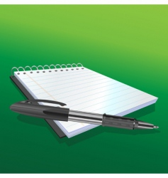 pen and notebook vector image vector image
