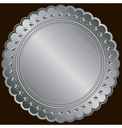 Silver Certificate Badges vector image