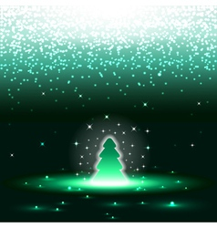 Xmas tree with sparkles vector image