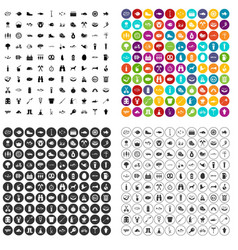 100 bbq icons set variant vector