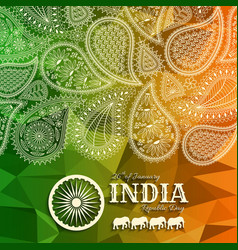 26th of january india republic day vector image