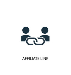 Affiliate link icon simple element vector