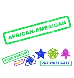 African-American Rubber Stamp vector image