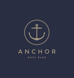 Anchor emblem design vector