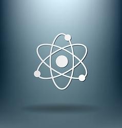 Atom molecule symbol icon of physics or chemistry vector