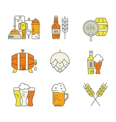 Beer Industry Icons vector image