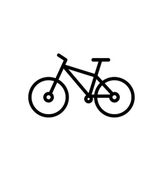 bike line icon vector image