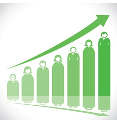 business people market graph vector image