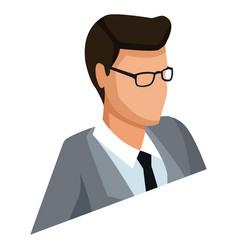 businessman profile 3d 3d vector image