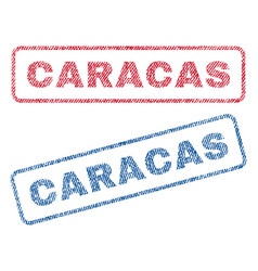 Caracas textile stamps vector