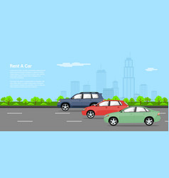 Cars for rent vector