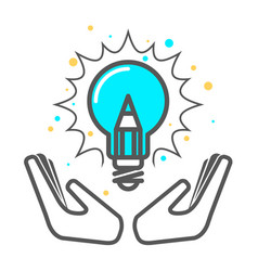 Cherish a creative idea - light bulb icon vector