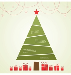 Christmas infographic tree with decoration and vector