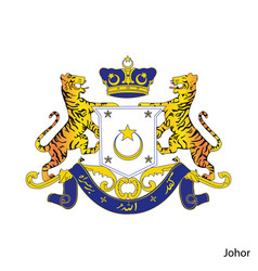 Coat arms johor is a malaysian region emblem vector