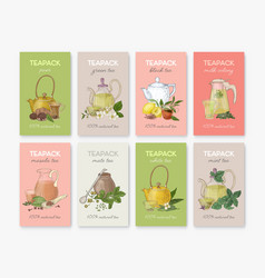collection of labels or tags with different types vector image