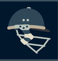 Color icon british cricket defense helmet vector