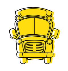 Color school bus transportation to education vector